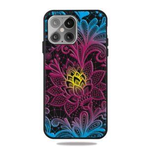 iPhone 12 / iPhone 12 Pro Gummi Schutzhülle Case bunte Blumen