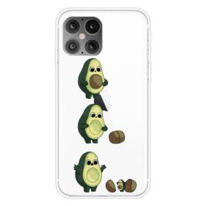 Super Dünne Transparente Schutzhülle für das iPhone 12 / iPhone 12 Pro mit dem Aufdruck Avocado Baby