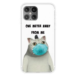 Super Dünne Transparente Schutzhülle für das iPhone 12 / iPhone 12 Pro mit dem Aufdruck Corona Katze