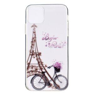 Super Dünne Transparente Schutzhülle für das iPhone 12 / iPhone 12 Pro mit dem Aufdruck Eiffelturm