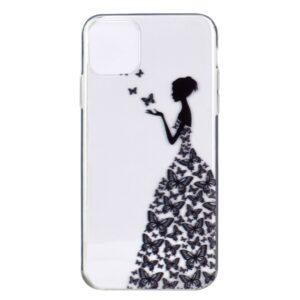 Super Dünne Transparente Schutzhülle für das iPhone 12 / iPhone 12 Pro mit dem Aufdruck Lady