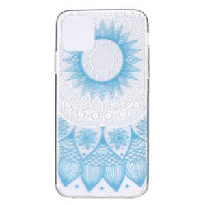 Super Dünne Transparente Schutzhülle für das iPhone 12 / iPhone 12 Pro mit dem Aufdruck Mandala Blau