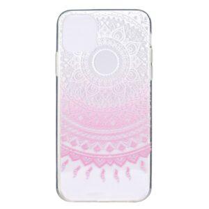Super Dünne Transparente Schutzhülle für das iPhone 12 / iPhone 12 Pro mit dem Aufdruck Mandala Pink