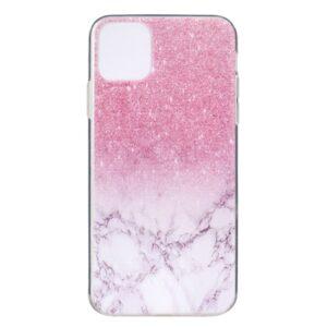 Super Dünne Transparente Schutzhülle für das iPhone 12 / iPhone 12 Pro mit dem Aufdruck Marmor Pink