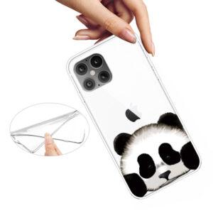 Super Dünne Transparente Schutzhülle für das iPhone 12 / iPhone 12 Pro mit dem Aufdruck Panda
