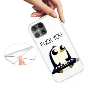 Super Dünne Transparente Schutzhülle für das iPhone 12 / iPhone 12 Pro mit dem Aufdruck Pinguin