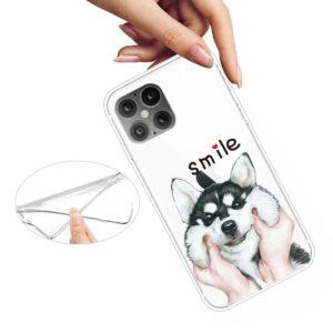Super Dünne Transparente Schutzhülle für das iPhone 12 / iPhone 12 Pro mit dem Aufdruck Smile