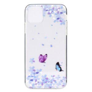 Super Dünne Transparente Schutzhülle für das iPhone 12 / iPhone 12 Pro mit dem Aufdruck Weisse Blumen