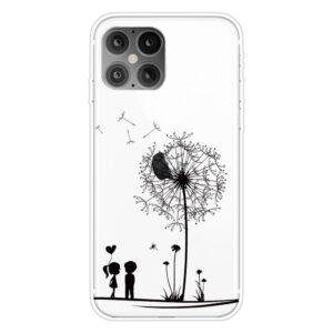 Super Dünne Transparente Schutzhülle für das iPhone 12 / iPhone 12 Pro mit dem Aufdruck grosse Pusteblume