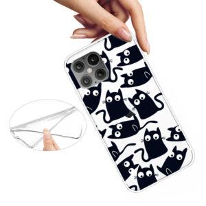 Super Dünne Transparente Schutzhülle für das iPhone 12 / iPhone 12 Pro mit dem Aufdruck kleine Katzen