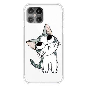 Super Dünne Transparente Schutzhülle für das iPhone 12 / iPhone 12 Pro mit dem Aufdruck süsse Katze