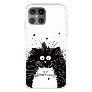 Super Dünne Transparente Schutzhülle für das iPhone 12 / iPhone 12 Pro mit dem Aufdruck zwei Katzen