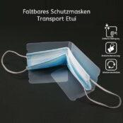 Schutzmasken Transport Etui Schutzhülle für unterwegs, Mund Nasen Schutz Schutzhülle Transparent und klein