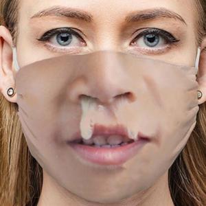 Stoffmaske Schutzmaske mit lustigem Aufdruck Erkältung