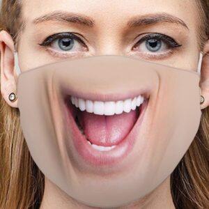 Stoffmaske Schutzmaske mit lustigem Aufdruck Kleinmaul