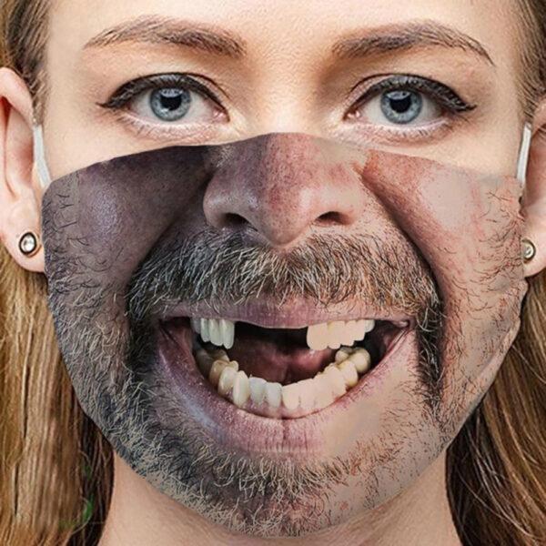 Stoffmaske Schutzmaske mit lustigem Aufdruck Rednek