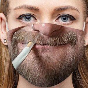 Stoffmaske Schutzmaske mit lustigem Aufdruck Zigarette