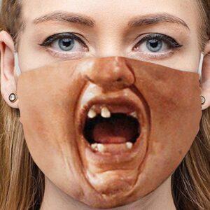 Stoffmaske Schutzmaske mit lustigem Aufdruck Zombie