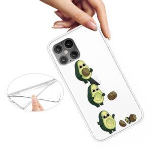 Super Dünne iPhone 12 Pro Max Schutzhülle Cover mit coolem Aufdruck Motiv Avocado
