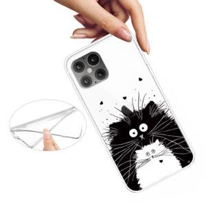 Super Dünne iPhone 12 Pro Max Schutzhülle Cover mit coolem Aufdruck Motiv Katzenfreunde