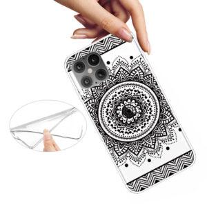 Super Dünne iPhone 12 Pro Max Schutzhülle Cover mit coolem Aufdruck Motiv Mandala