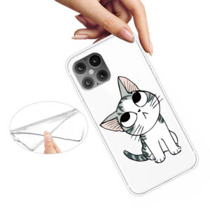 Super Dünne iPhone 12 Pro Max Schutzhülle Cover mit coolem Aufdruck Motiv süsse Katze