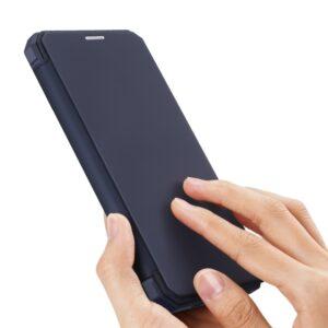 Magnetische Schutzhülle Etui von Dux Ducis Premium Qualität für das iPhone 12 und iPhone 12 Pro in Blau