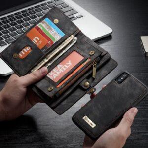 iPhone XS / X praktische 2 in 1 Schutzhülle mit Münzfach und Kartenfach vom Premium Hersteller Caseme