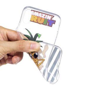 iPhone XS / iPhone X Gummi Slim Schutzhülle mit coolem Aufdruck Ananas