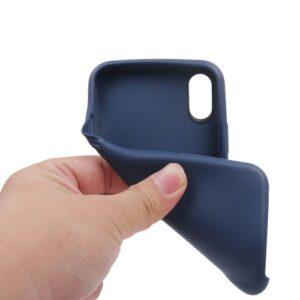 iPhone XS / iPhone X Gummi Slim Schutzhülle Pure Blau