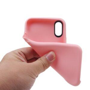 iPhone XS / iPhone X Gummi Slim Schutzhülle Pure Pink