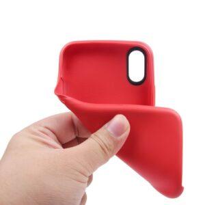 iPhone XS / iPhone X Gummi Slim Schutzhülle Pure Rot
