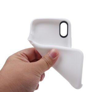 iPhone XS / iPhone X Gummi Slim Schutzhülle Pure Weiss