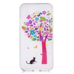 iPhone XS / iPhone X Gummi Slim Schutzhülle mit coolem Aufdruck bunter Baum