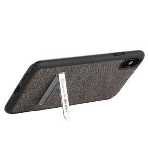 iPhone XS / X Schutzhülle aus Stoff und Kunsstoff vom Premium Hersteller Benks in Schwarz