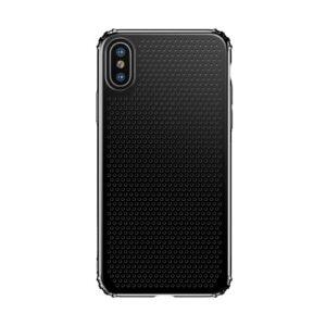 iPhone XS / X Gummi Schutzhülle Ultra Slim im gelocht Design vom Premium Hersteller Baseus in Schwarz