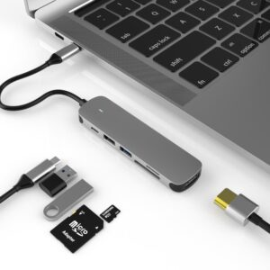 6 in 1 USB-C Hub Adapter HDMI SD Micro SD USB