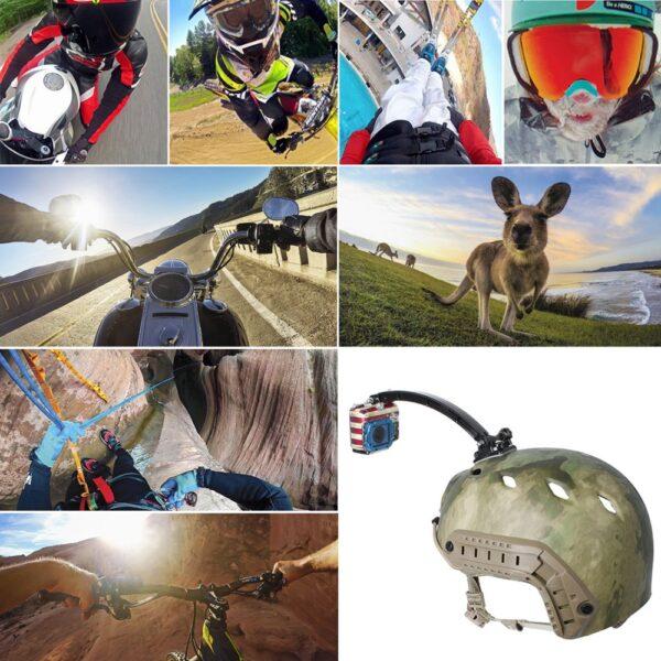GoPro Helm Halterung mit Schnellverschluss