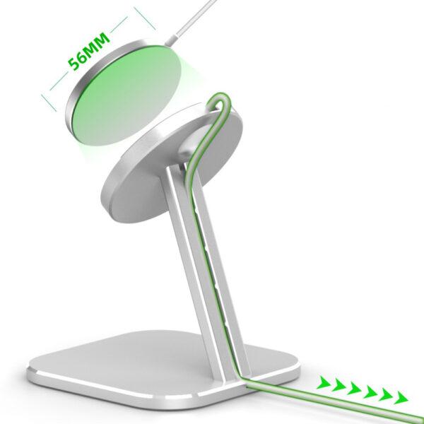 MagSafe Desktop Halterung Station Silber