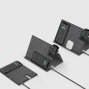 ROCK 3 in 1 QI Wireless 10W Multi Ladestation