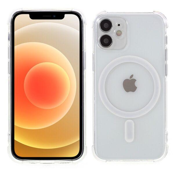 iPhone 12 Gummi Schutzhülle MagSafe Transparent