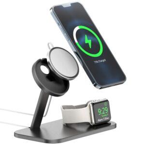 MagSafe Desktop Halterung Station für Apple iPhone und Apple Watch Schwarz