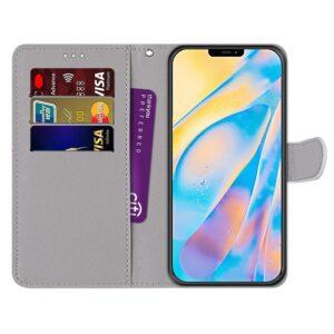 iPhone 12 Mini Buch Etui Tasche mit Kartenfach Macarons