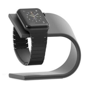 Apple Watch Design Halterung Ladestation Schwarz