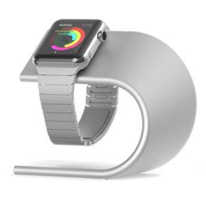 Apple Watch Design Halterung Ladestation Silber