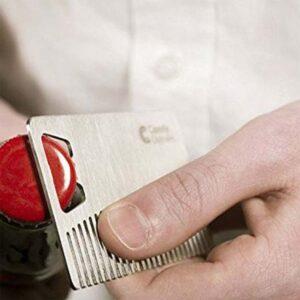 2 in 1 Bartkamm und Bieröffner im Kreditkarten Format