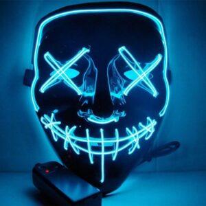 Beleuchtete LED Maske Blau
