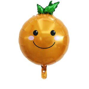 Folien Ballon Gemüse Orange
