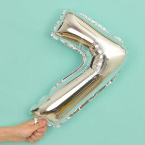 Folien Ballon Ziffer 7 40cm Silber