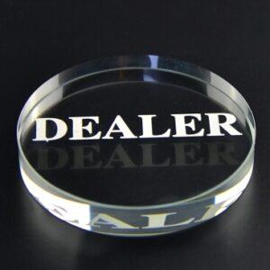 Poker Dealer Button aus Acryl Transparent